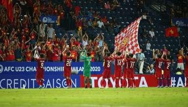 """AFC """"doạ"""" cấm cổ động viên Việt Nam vào sân nếu vi phạm điều lệ. (Nguồn: Dân trí)"""
