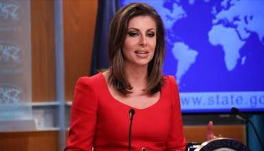 Người phát ngôn Bộ Ngoại giao Mỹ Morgan Ortagus. (Nguồn: Anadolu)