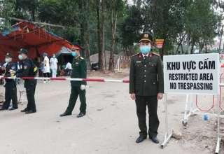 Chốt kiểm soát số 1, đoạn đường lưu thông chính của xã Sơn Lôi
