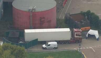 Chiếc container chứa 39 thi thể bị phát hiện tại Essex