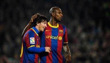 Lionel Messi và Abidal từng là đồng đội trong màu áo Barcelona.