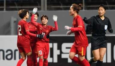 Trận đấu giữa hai đội tuyển nữ Việt Nam và Hàn Quốc