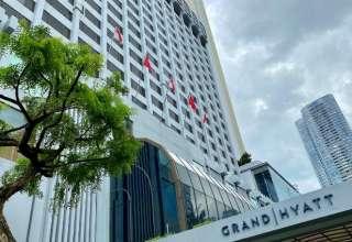 Khách sạn Grand Hyatt Singapore, nơi diễn ra hội nghị hồi tháng một với nhiều người bị nhiễm virus corona. Ảnh: Reuters