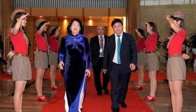 Phó Chủ tịch nước Đặng Thị Ngọc Thịnh trong buổi lễ.